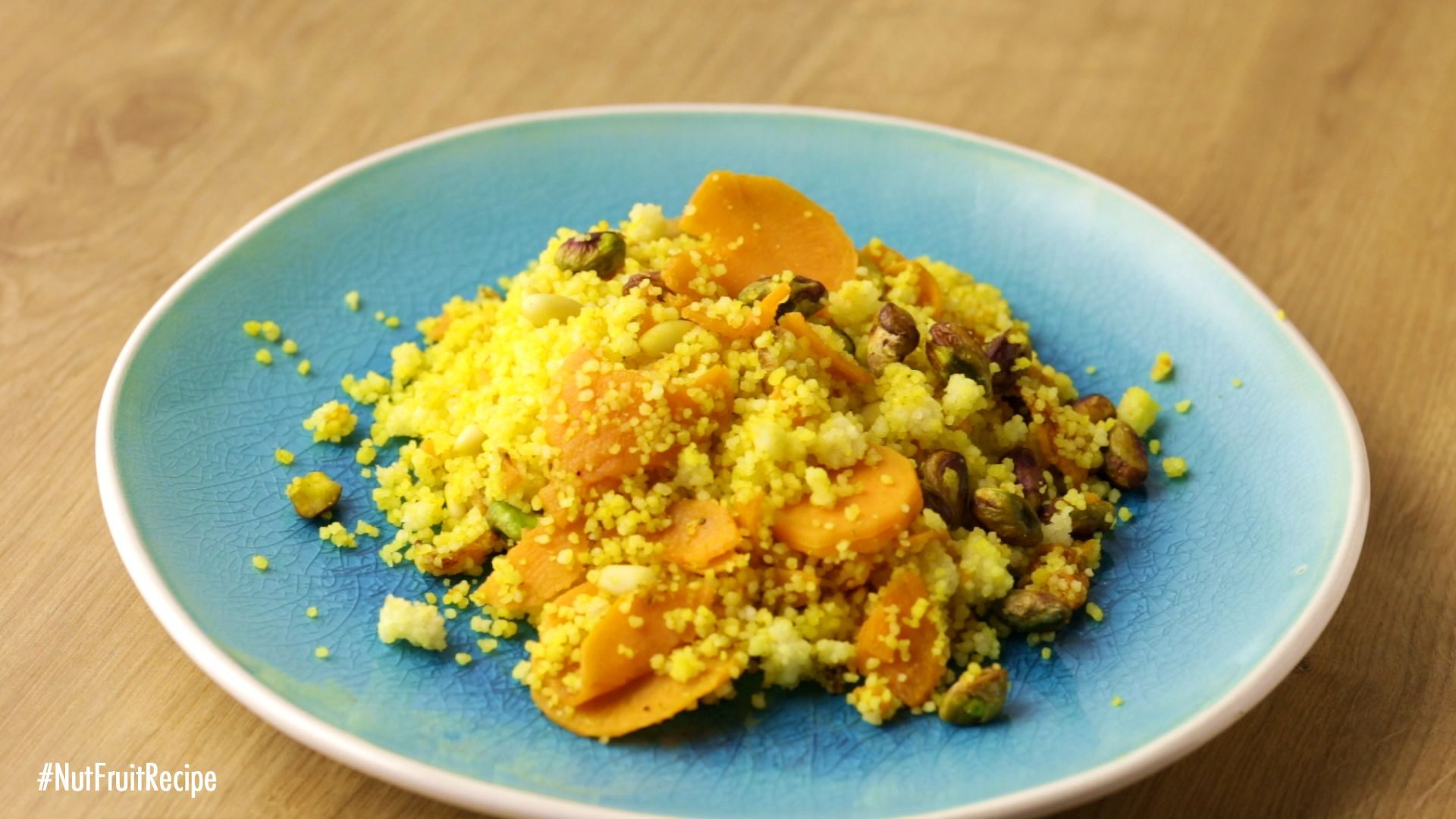 {Couscous with Sweet Potato, Figs, Pistachios and Pine Nuts}