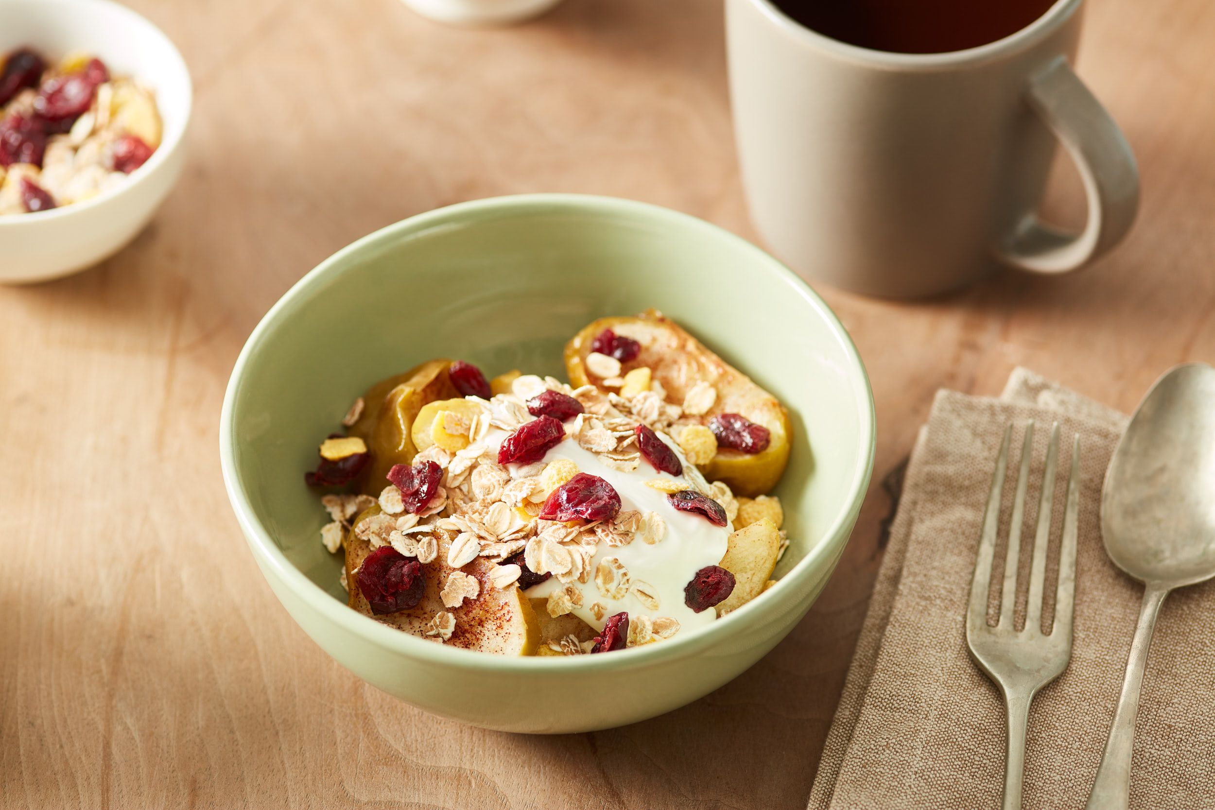 {Baked Apples with Dried Cranberries}