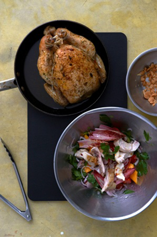 Spicy Roast Chicken, Mango and Macadamia Salad