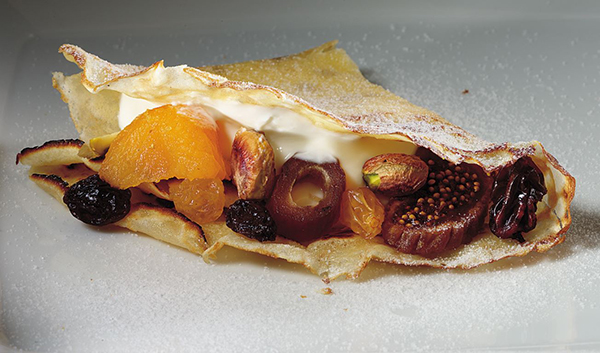 Dried Fruit Crepes