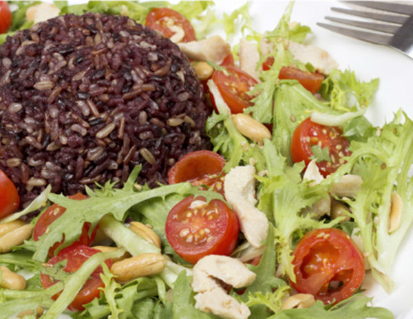 Peanut and Black Rice Salad