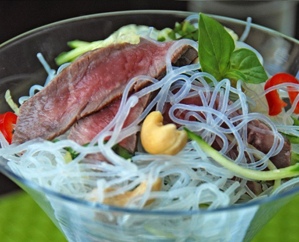 Vietnamese-style Lamb, Cashew and Noodle Salad